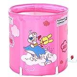 HUANGDA Aufblasbare Badewanne, Kinderbadewanne klappbar, Dicke Babybadewanne Badewanne Babybadewanne, Blau (Color : Pink)