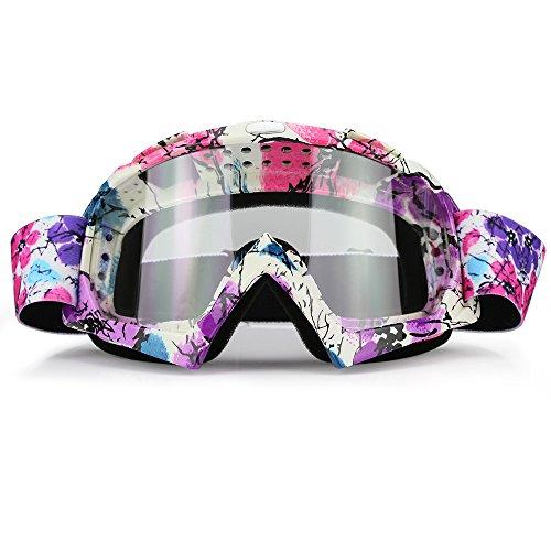 JamieWIN Gafas de motocross para motocicleta y lentes transparentes para motocicleta, protección...