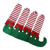Gazechimp 4pcs Noël Maison Table Jambe Pied Couverture Chaise Chaussette en Feutre Décoration Noël