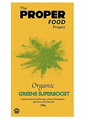 NEW *TPFP SUPERBOOST* HALF PRICE INTRO OFFER: 480g Organic Super Greens Powder - 60 servings - Produced in the UK - Rich in Vitamins A, C, B, D & E, Live Enzymes, Amino Acids and Antioxidants. Vegan. FREE DELIVERY