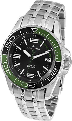 Jacques Lemans Liverpool Diver 1-1353E Gents Metal Bracelet Watch