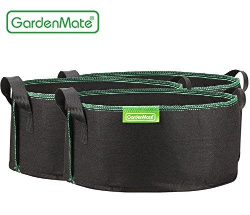 GardenMate® 3x Sacs Jardinière à plantes en tissu non tissé 15L
