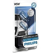 Philips 12961NBVB2 WhiteVision Effetto Xenon W5W Lampada Auto, Blister Doppio
