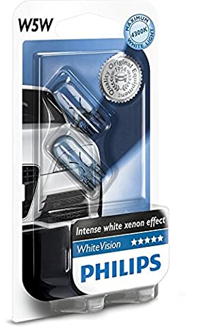 Philips WhiteVision Xenon Effect W5W Car Bulb 12961NBVB2, Double (2008 Ford Explorer)