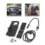 R1200GS ADV Motociclo Supporto Telefono Moto Porta Cellulare Navigazione Staffa Fissa Titolare Smartphone GPS Ricarica USB per Africa Twin CRF1000L per F700 800GS R1200GS ADV
