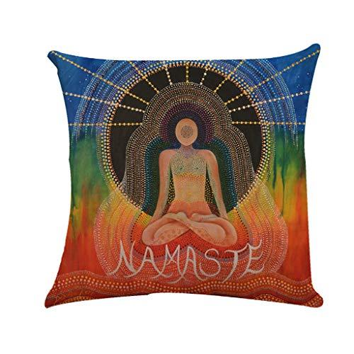 Xmansky unda de Cojín Almohada Patrón de Almohada Caso Lino Duradero Decoración Buda protege el material de lino funda de almohada paz