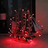 InnooTech 3M 30er LED Lichterkette Batteriebetrieben Rot, Innen Beleuchtung Deko fuer Garten, Wohnungen, Tanzen, Hochzeit, Weihnachtsfeier usw.
