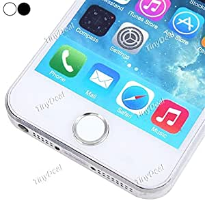 Aluminium Metal Touch ID Home Button Sticker for iPhone 5s - Silver Circle EPATH-350764 - Black