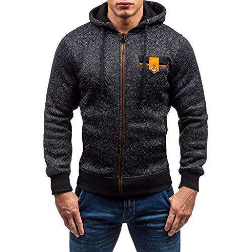 ❤️Manteau Veste Homme Amlaiworld Hommes Automne Hiver Décontractée Fermeture éclair Pull à Manches Longues Sweat-Shirt à Capuche Veste Jacket