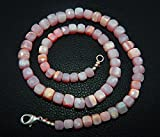natural pink Opal cube box shape 19 inch long 5-8 mm necklace