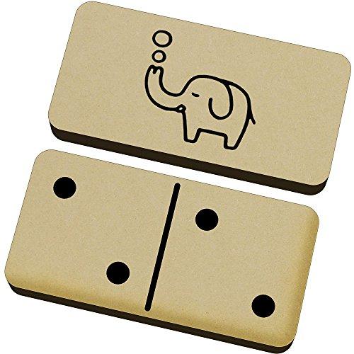 Azeeda 'Burbuja de Elefante' Domino Juego y Caja (DM00016417)