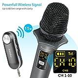 Dynamische Mikrofone, Ansteker UHF Kabelloses Mikrofon mit Mini Bluetooth Empfänger Wireless Funkmikrofon für Konferenz Microphone, Karaoke, Hochzeiten, Kirche, Bühne,...