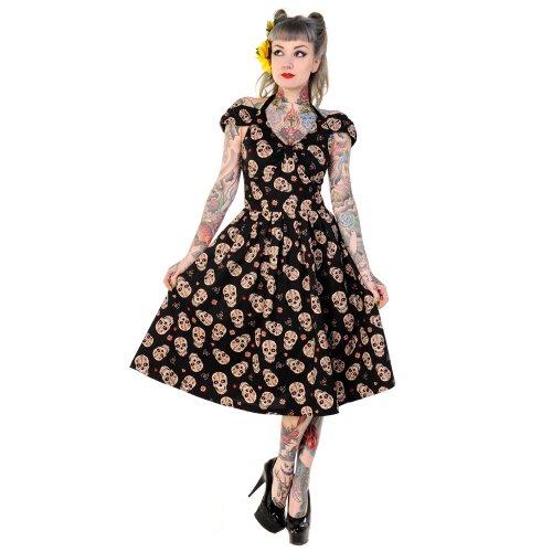 Banned Kleid SUGAR SKULL 589 schwarz Schwarz S