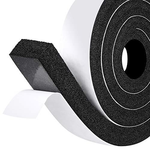 fowong Moosgummi Selbstklebend 50mm(B) x25mm(D) Kompriband Schaumstoffband Selbstklebend Dichtungsband für Fenster Tür Kollision Siegel Schalldämmung Gesamtlänge 2m (1 Rollen je 2m lang)