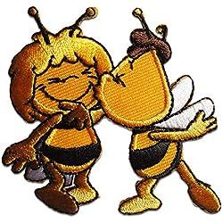 Toppe termoadesive - Biene Maja Willi Comic bambini - giallo - 6,7x6,3cm - by catch-the-patch® Patch Toppa ricamate Applicazioni Ricamata da cucire adesive