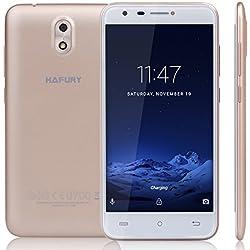 Cubot HAFURY MIX (2017) Android 7.0 Nougat Smartphone ohne Vertrag 5 Zoll HD IPS Touch Display, Dual Sim, 2GB+16GB interner Speicher, 13MP Hauptkamera / 5MP Frontkamera, 2.5D gebogenes Kapazitiver Bildeshirm, nutzbares GPS, Benachrichtigung LED, Gold
