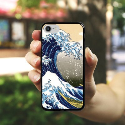Apple iPhone X Silikon Hülle Case Schutzhülle Katsushika Hokusai Japan Kunst Hard Case schwarz