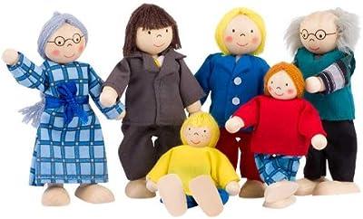 Goki Toys Pure SO218 - Familia de muecos de trapo [importado de Alemania]
