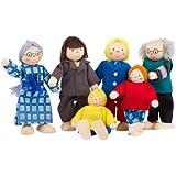 Goki - SO218 - Mini-poupées articulées - Famille citadine