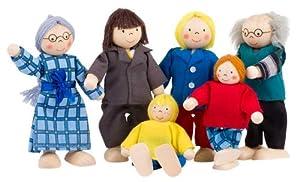 Goki Toys Pure SO218 - Familia de muecos de Trapo Importado de Alemania