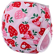 Storeofbaby Reusable Baby Swim Nappies Adjustable Swimwear for Toddlers Girls 0-3 Years