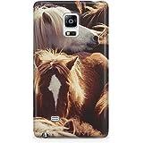 Grupo de ponis islandeses Samsung Galaxy S3 S4 S5 S6 etidronato Mini Ace Nexus Note y más, plástico, marrón, Samsung Galaxy S5 Mini
