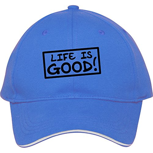 New Hot Fashion Baseball Snapback Hüte und Kappen für In Frauen-Cooles Sport-Gap Life is good bessieflores Baumwolle, unisex, blau