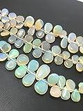 Ethiopian Opal Plain Smooth Briollette Pears 5-10 mm 8
