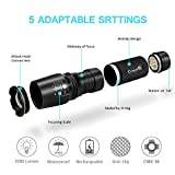 CrazyFire Zoomable LED Torch,1000 Lumen 5 Mode Portable Flashlight,Led Pocket Torch Lamp for Hiking Traveling Camping (White Beam) Bild 1