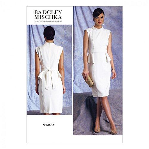 vogue-badgley-mischka-1399-patron-de-costura-para-coser-vestidos-retro-con-cinturon-tamanos-14-16-18