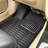 #1: Car Mat Black 4D / Black Foot Mat Set for Maruti Suzuki Breeza