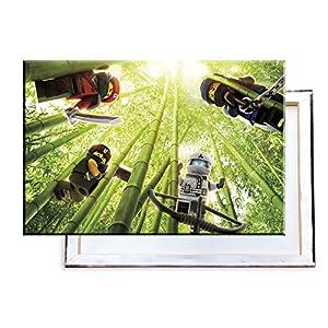Unified Distribution Ninjago - 60x40 cm - Bilder & Kunstdrucke fertig auf Leinwand aufgespannt und in erstklassiger Druckqualität