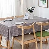 XIAOQING Tovaglia in PVC Stile Nordico Plaid Hotel Sala conferenze Stampa tovagliaa Prova di Olio Impermeabile tovaglia
