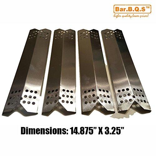 Bar.B.Q.S 90371 4pack Barbecue BBQ Edelstahl Wärmeplatte Hitze Schild, Vaporizor Bar, Aromatisierer Bar Ersatz für Gas-Grill Modell Master Forge 1010037, 1010048