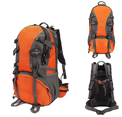 Outdoor Bergsteigen Tasche Camping Wasserdicht Reise Rucksack,LightGreen60L Orange40L