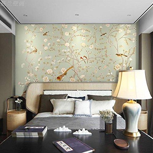 HUANGYAHUI Wandbilder 3D Chinesischen Pflaume Blume Und Vogel Gemälde  Gemalt Das Wohnzimmer Sofa Schlafzimmer Tv Hintergrund Wandverkleidung  Tapete Tapete