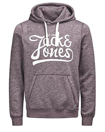 Jack and Jones Kapuzenpullover / Hoodie / Hoodi Weich und angenehm zu tragen mit coolem Druck in verschiedenen Farben + Gratis Wäschenetz von B46 zu jedem Sweatshirt (XS, Port Royal) - Verschiedene Druck -