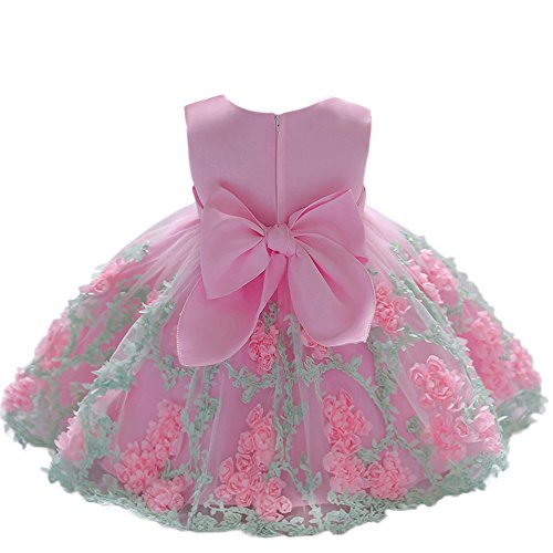 QUINTRA Blume Baby Mädchen Prinzessin Tutu Kleid Print ärmellose Formale Kleidung Kleider