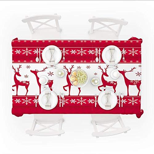 Chen Nappes Nordic Nappe Tissu Coton Lin Nappe Table Ronde Table Basse Rectangulaire Tissu Table De Chevet Couverture De Serviette Dust Cloth (Color : Red, Size : 150 * 260cm)