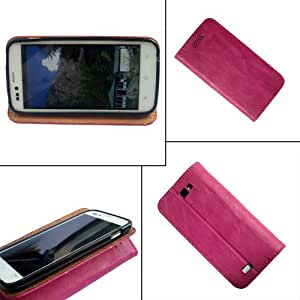 i-KitPit - PU Leather Flip Case Cover For Samsung Galaxy Young (PINK)