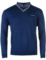 Pierre Cardin - Pull avec faux col de chemise Homme