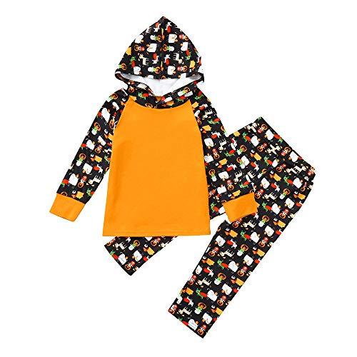 Quaan 0M-24M Neugeborenes Säugling Baby Junge Mädchen Karikatur Oberteile Kapuzenpullover Hose Halloween Outfits warm weich gemütlich Mantel Winter Weihnachten niedlich Outfit Baumwolle Outwear