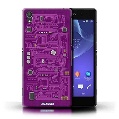 Kobalt® Imprimé Etui / Coque pour Sony Xperia Z2 / Rouge conception / Série Circuit Board Pourpre