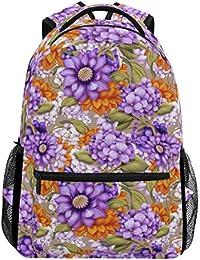 Preisvergleich für COOSUN Blumenmuster zufällige Rucksack Schultasche Reise Daypack Mehrfarbig