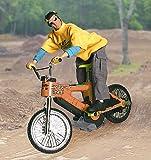 Arkai 30 cm - BMX Biker - LENKER als Fernsteuerung ECHTE Pedalbewegungen; Tricks wie Moguls, Liptricks & Jumps möglich !