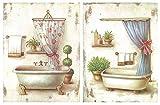 Quadro in legno da bagno,set di 2pezzi, 19x 25cm ogni quadro
