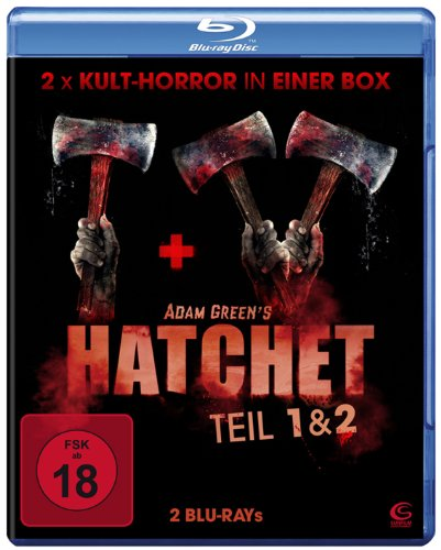 Adam Greens Hatchet 1 & 2 - 2x Kult-Horror in einer Box (2 Blu-rays)