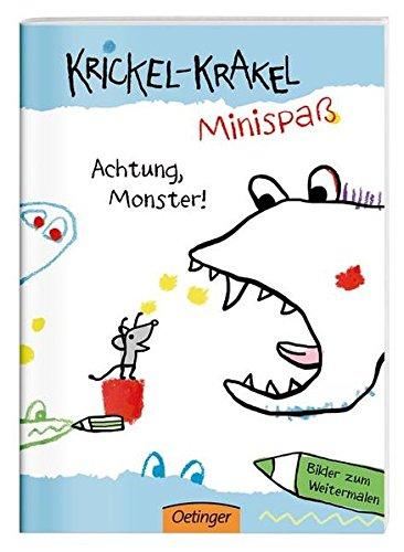 Preisvergleich Produktbild Krickel-Krakel-Minispaß: Achtung, Monster! Bilder zum Weitermalen