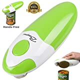 BangRui Smooth Soft Edge Electric Can Opener with One-Button Start and One-Button Manual Stop (Green) from BangRui