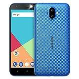 Ulefone S7 3G Smartphone Ohne vertrag Günstig Android 7.0 5,0 Zoll HD 1280x720P MTK6580 1.3GHz Quad Core Dual Sim 1GB RAM+8GB ROM 128GB TF Karte Kapazität 8MP+5MP+5MP Kameras(Blau)